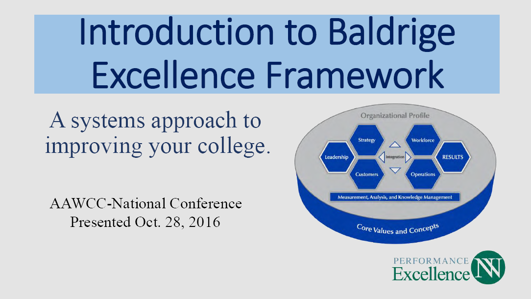 Baldrige Excellence thumbnail