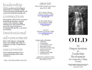 OILD 2017 Brochure
